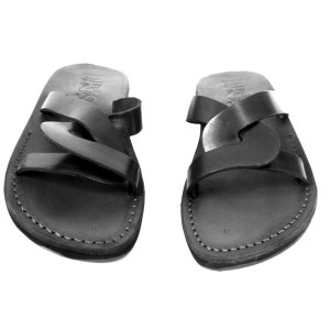 Sandale Piele Arhaico Negre