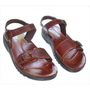 Sandale Romane Gladiator M Maro din Piele Ergonomice