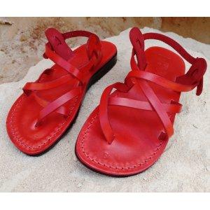 Sandale Piele Naturala Summer Rosii