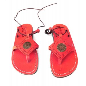 Sandale AzteK Sun Dama Piele Naturala Rosii