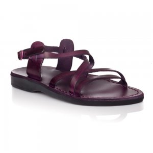 Sandale Piele Naturala Clasic Violet