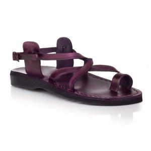 Sandale Piele Naturala Deget Violet