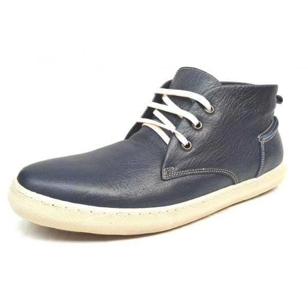Pantofi Barbatesti Tip Gheata Piele Naturala Him Bleumarin