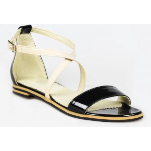 Sandale Piele Naturala Black & White