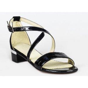 Sandale Cu Toc Din Piele Naturala Morticia