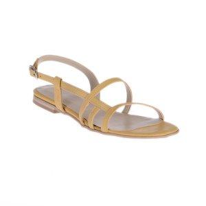 Sandale Dama Piele Naturala Crem Sheila