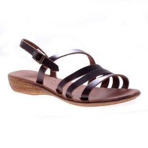 Sandale dama piele romane maronii antique