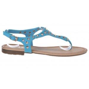 Sandale dama piele ecologica turqoise