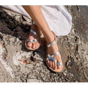 Sandale Dama Grecesti Atena Argintii