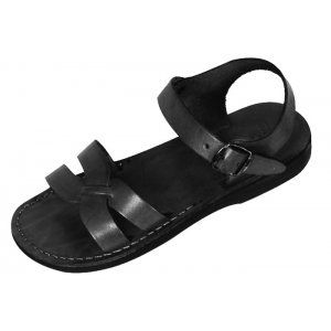 Sandale Piele Naturala Gladiator model X Negru
