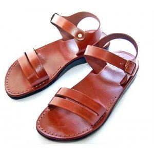 Sandale Piele Naturala Gladiator Paralel Maro