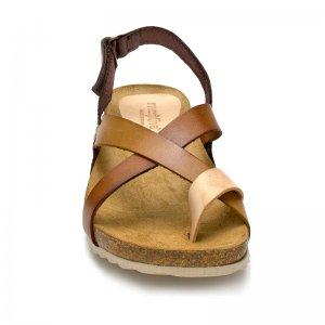 Sandale Dama Spania Comod Piele Maro